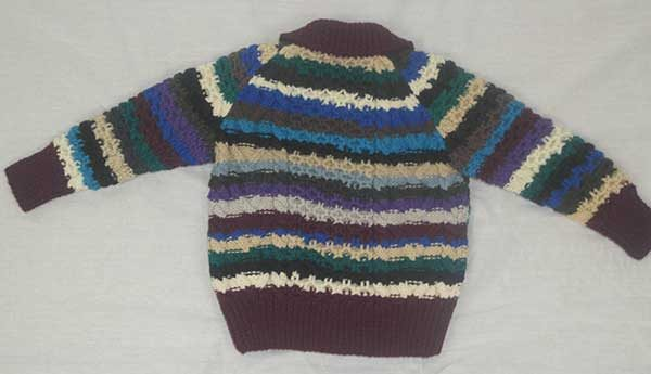 13A Childs Lumber Cardigan Assorted Back