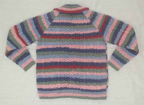 13A Childs Lumber Cardigan Assorted New Lanark Wool Back
