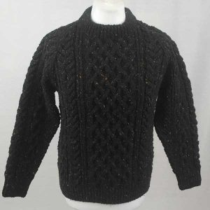 1A Country Meetings Crew Neck Sweater Front Black