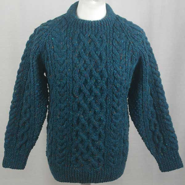 1A Country Meetings Crew Neck Sweater Teal Front