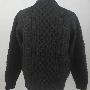 1A Country Meetings Crew Neck Sweater Charcoal Back