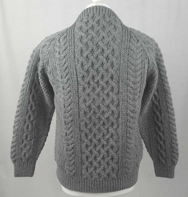 1A Country Meetings Crew Neck Sweater Grey Back