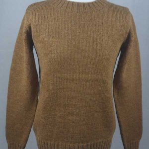 Hand Framed Crew Neck Sweater peppercorn