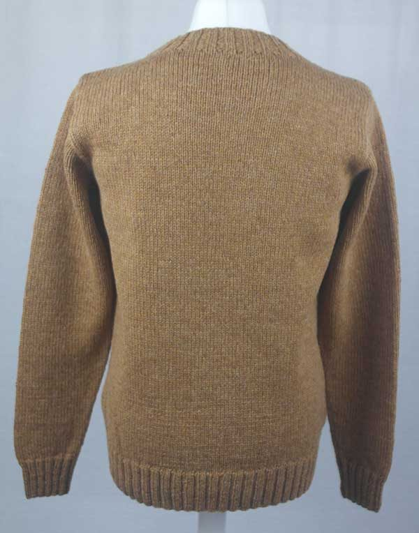 Hand Framed Crew Neck Sweater peppercorn back