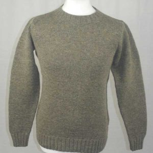Hand Framed Crew Neck Sweater oyster
