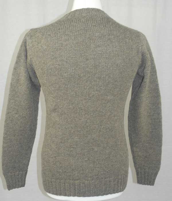 Hand Framed Crew Neck Sweater oyster back