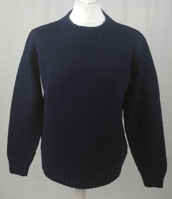 Hand Framed Crew Neck Sweater Navy