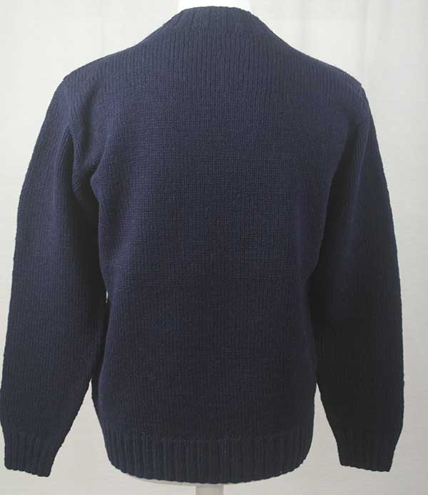 Hand Framed Crew Neck Sweater Navy back