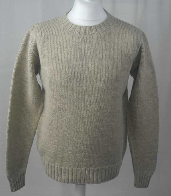 Hand Framed Crew Neck Sweater Putty