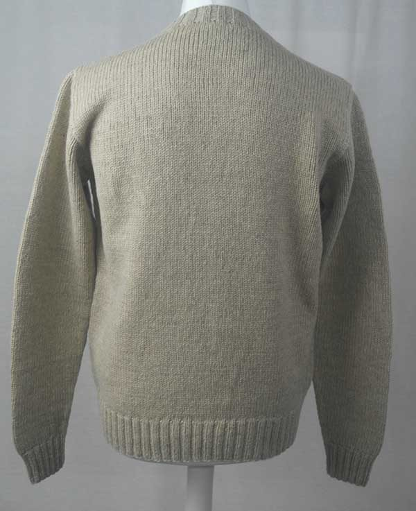 Hand Framed Crew Neck Sweater Putty Back