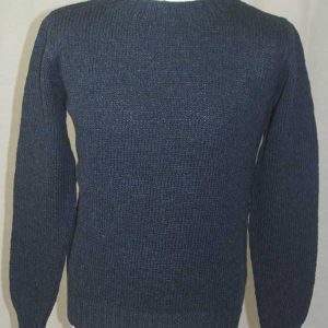 Hand Framed Crew Neck Sweater Denim