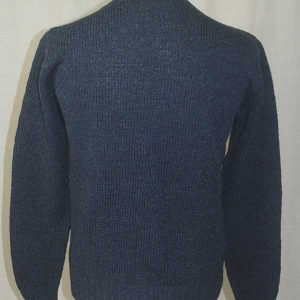 Hand Framed Crew Neck Sweater Denim back