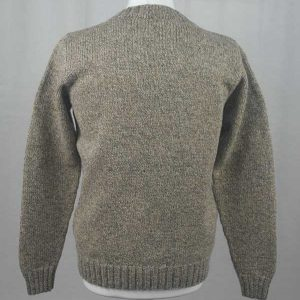 Hand Framed Crew Neck Sweater Cummin back