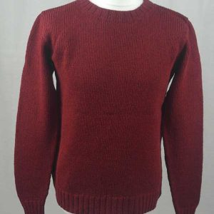 Hand Framed Crew Neck Sweater Red