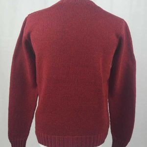 Hand Framed Crew Neck Sweater Red Back