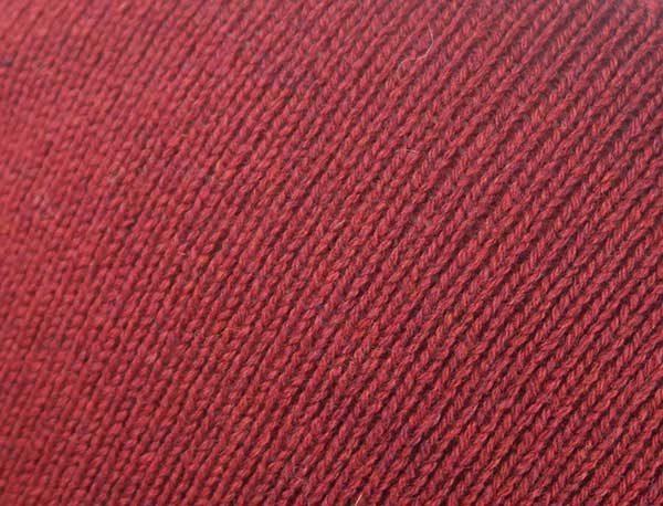 Hand Framed Crew Neck Sweater Red Rennie Shetland