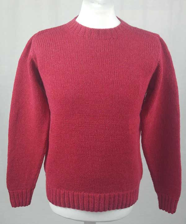Hand Framed Crew Neck Sweater Grenadine