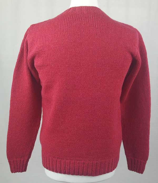 Hand Framed Crew Neck Sweater Grenadine back