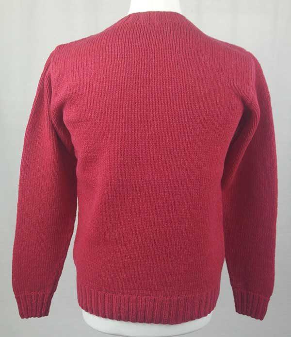 Hand Framed Crew Neck Sweater Grenadine back