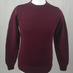 Hand Framed Crew Neck Sweater Bordeaux