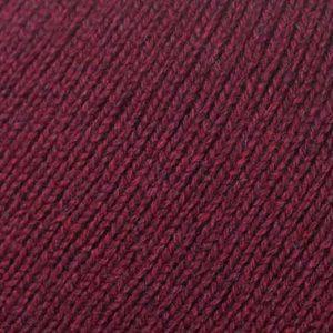 Hand Framed Crew Neck Sweater Bordeaux Rennie Shetland