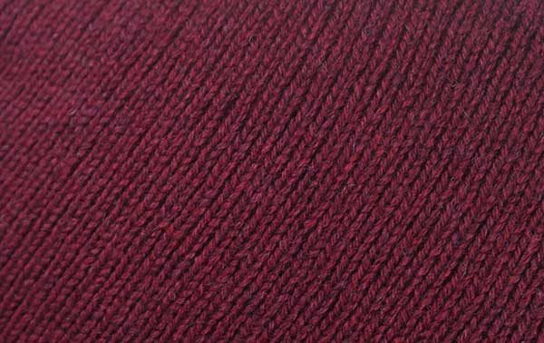 Hand Framed Crew Neck Sweater Bordeaux Rennie Shetland