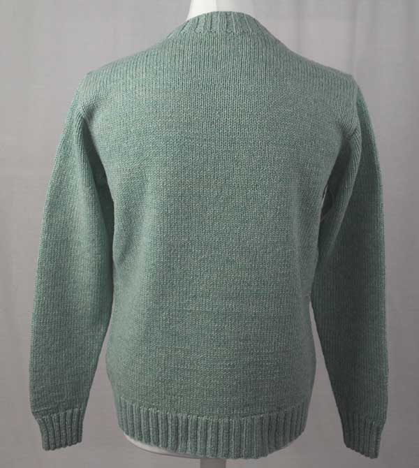 Hand Framed Crew Neck Sweater Fauna Back