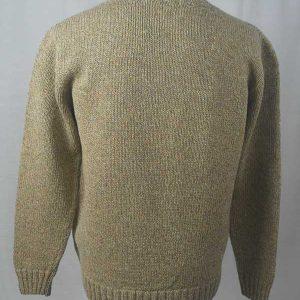 Hand Framed Crew Neck Sweater Wheater Back