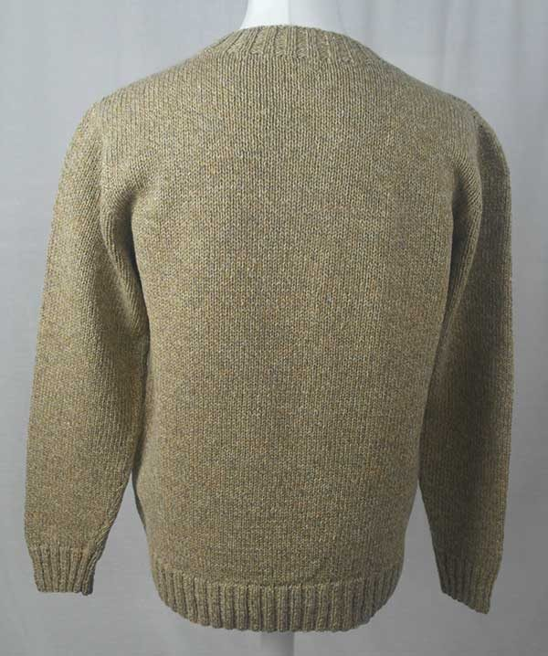 Hand Framed Crew Neck Sweater Wheater Back