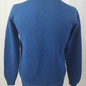 Hand Framed Crew Neck Sweater Ocean Back