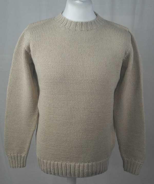 1Z Hand Framed Crew Neck Sweater Linen