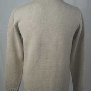 1Z Hand Framed Crew Neck Sweater Linen Back