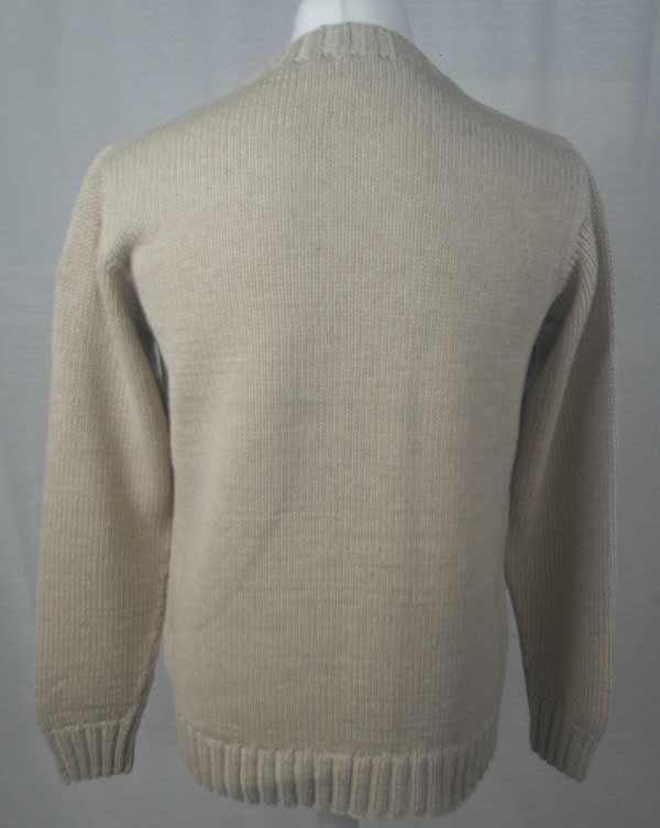 1Z Hand Framed Crew Neck Sweater Linen Back