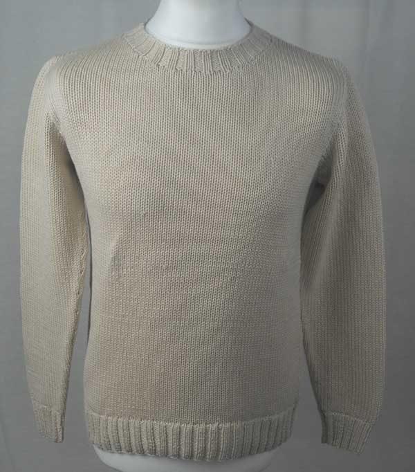 1Z Hand Framed Crew Neck Sweater Ivory