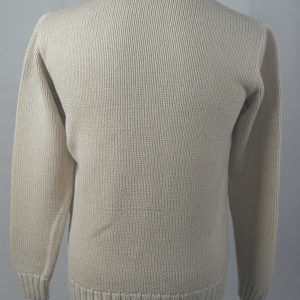 1Z Hand Framed Crew Neck Sweater Ivory Back