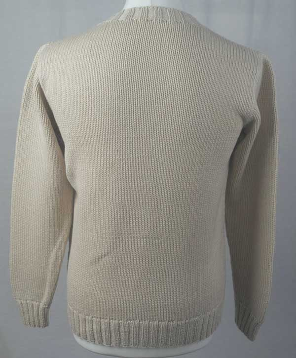 1Z Hand Framed Crew Neck Sweater Ivory Back