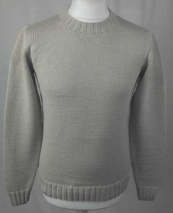 1Z Hand Framed Crew Neck Sweater Hessian Back