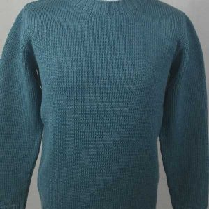 1Z Hand Framed Crew Neck Sweater Blue