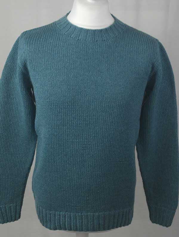 1Z Hand Framed Crew Neck Sweater Blue