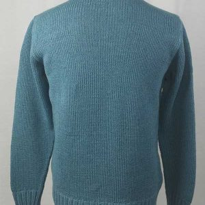 1Z Hand Framed Crew Neck Sweater Blue Back