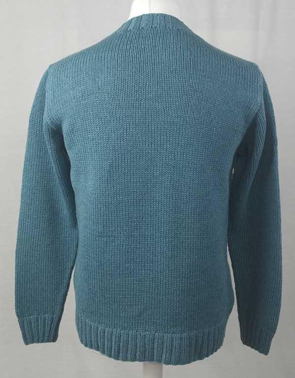 1Z Hand Framed Crew Neck Sweater Blue Back
