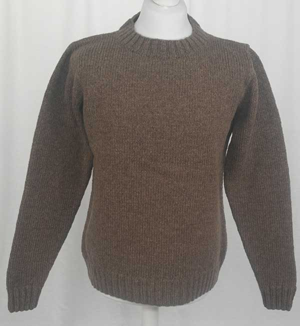 Hand Framed Crew Neck Sweater Nutmeg