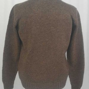 Hand Framed Crew Neck Sweater Nutmeg Back