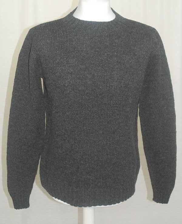 Hand Framed Crew Neck Sweater oxford