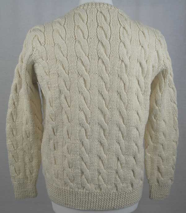 205 Cambus Cabled Sweater Back Natural