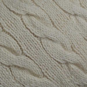 205 Cambus Cabled Sweater material Natural