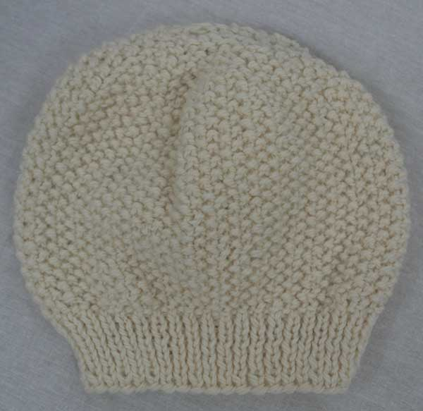 22B Moss Stitch Hat available in Natural and Navy Colours