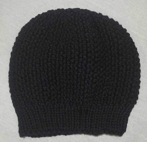 22B Moss Stitch Hat Navy