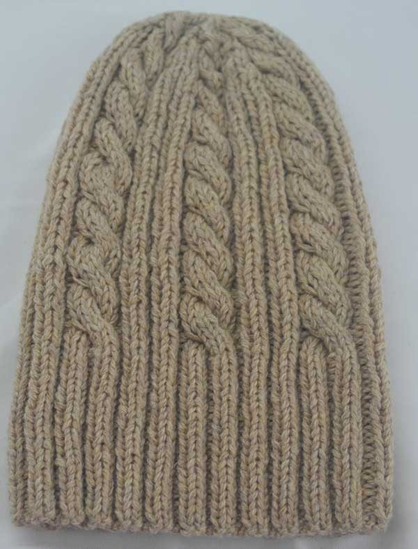 22F Rib & Cable Hat Tusk Full