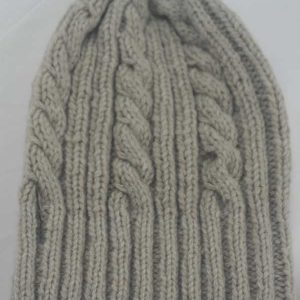 22F Rib & Cable Hat Putty Full